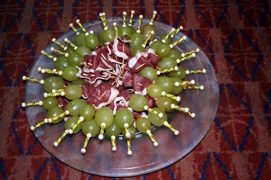 Mini brochette raisin/magret