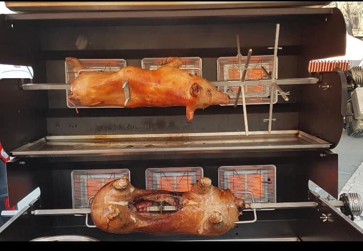 Agneau et cochon à la Broche